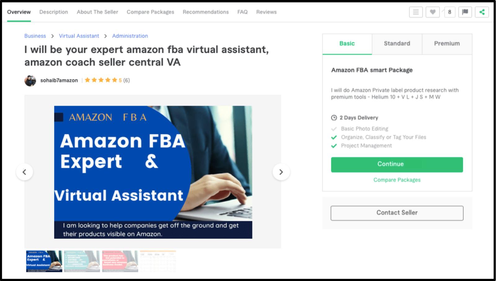Freelance Amazon FBA Consultant Sohaib7amazon profile on Fiverr