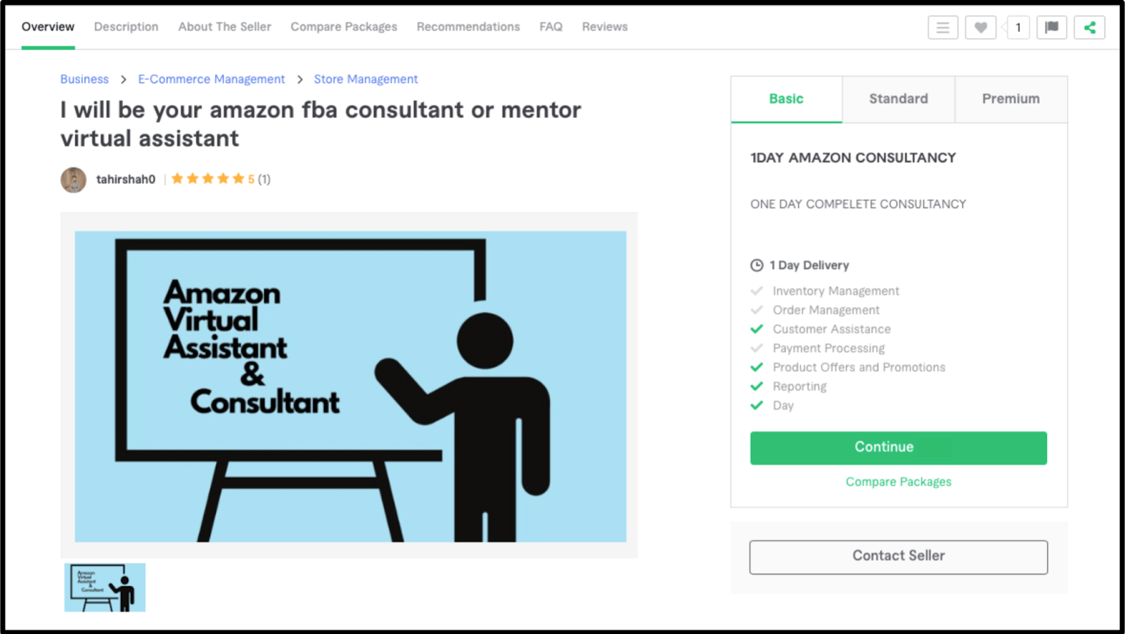 Freelance Amazon FBA expert Tahirshah0 profile on Fiverr