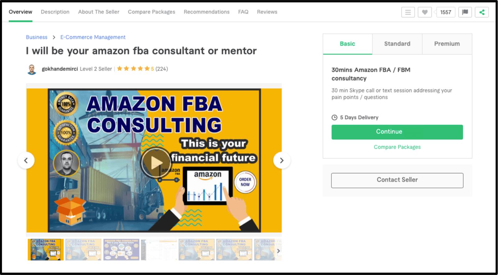 FBA Amazon Consultant Jjmcg85 profile