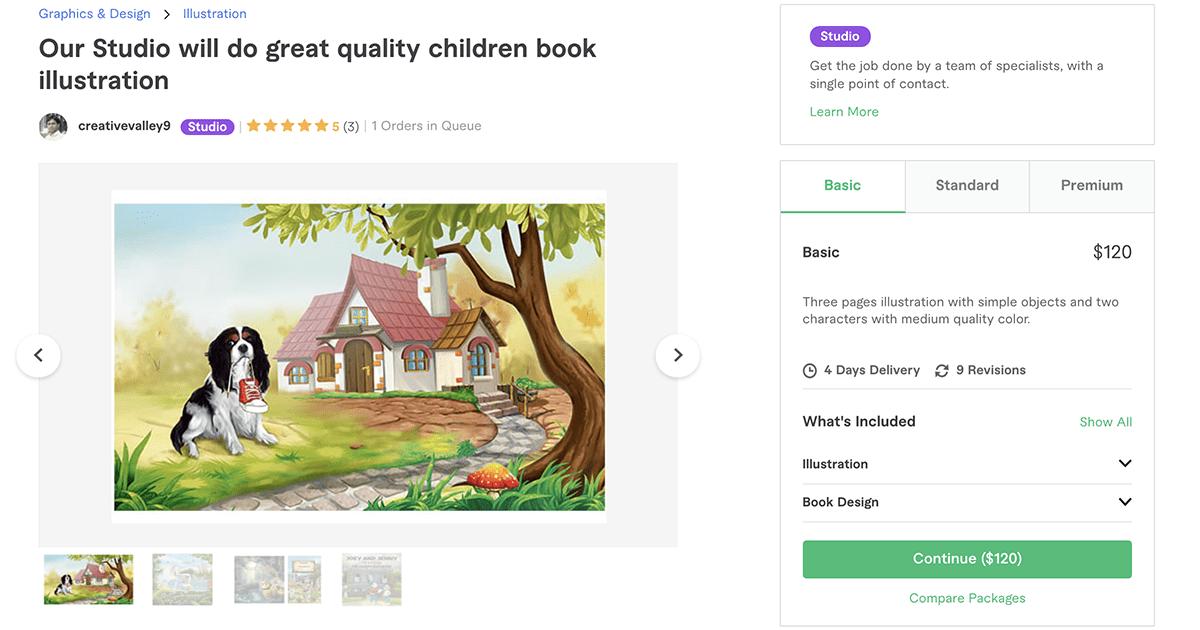 children's book illustrator on Fiverr – CreativeValley9