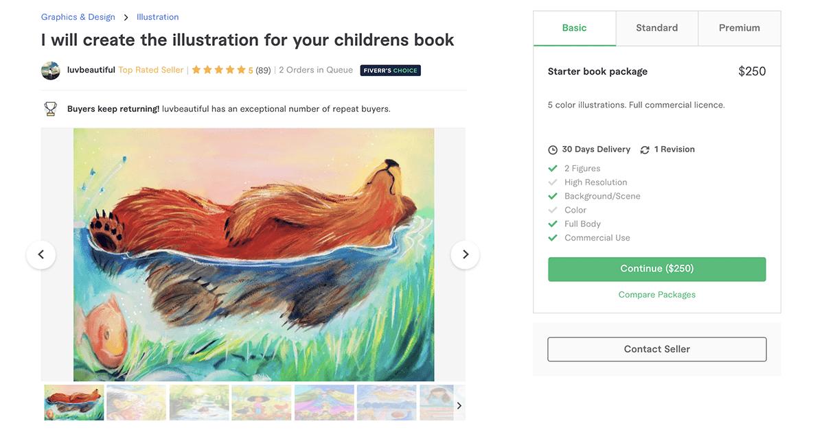 children's book illustrator on Fiverr – LuvBeautiful
