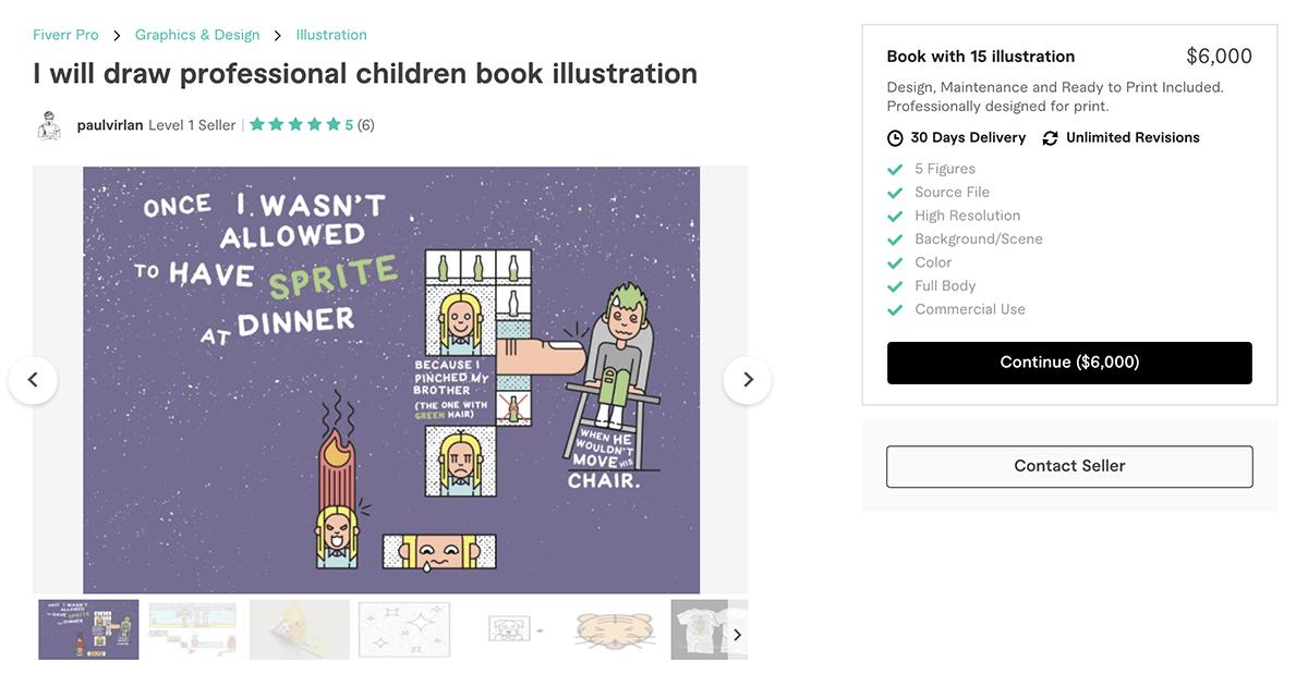 children's book illustrator on Fiverr – PaulVirlan