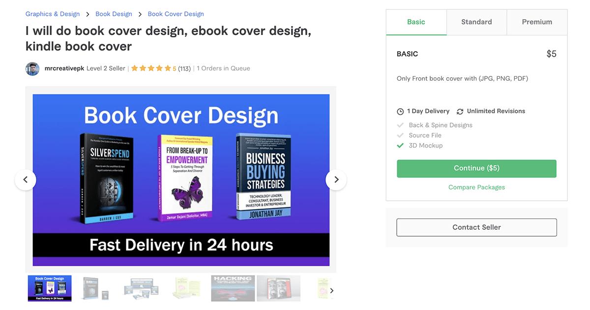 book cover designer on Fiverr – MrCreativePK