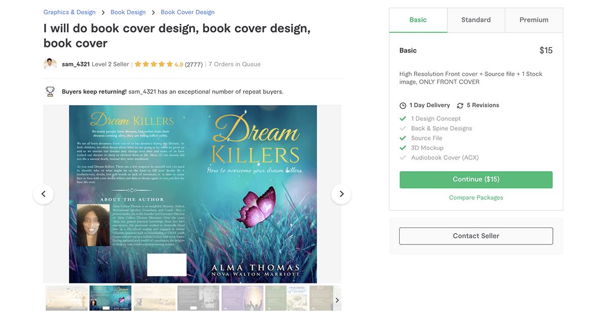 book cover designer on Fiverr – Sam_4321