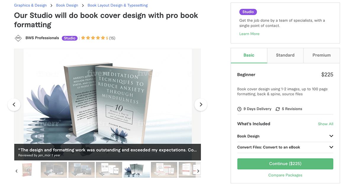 book cover designer on Fiverr – BWS Professionals