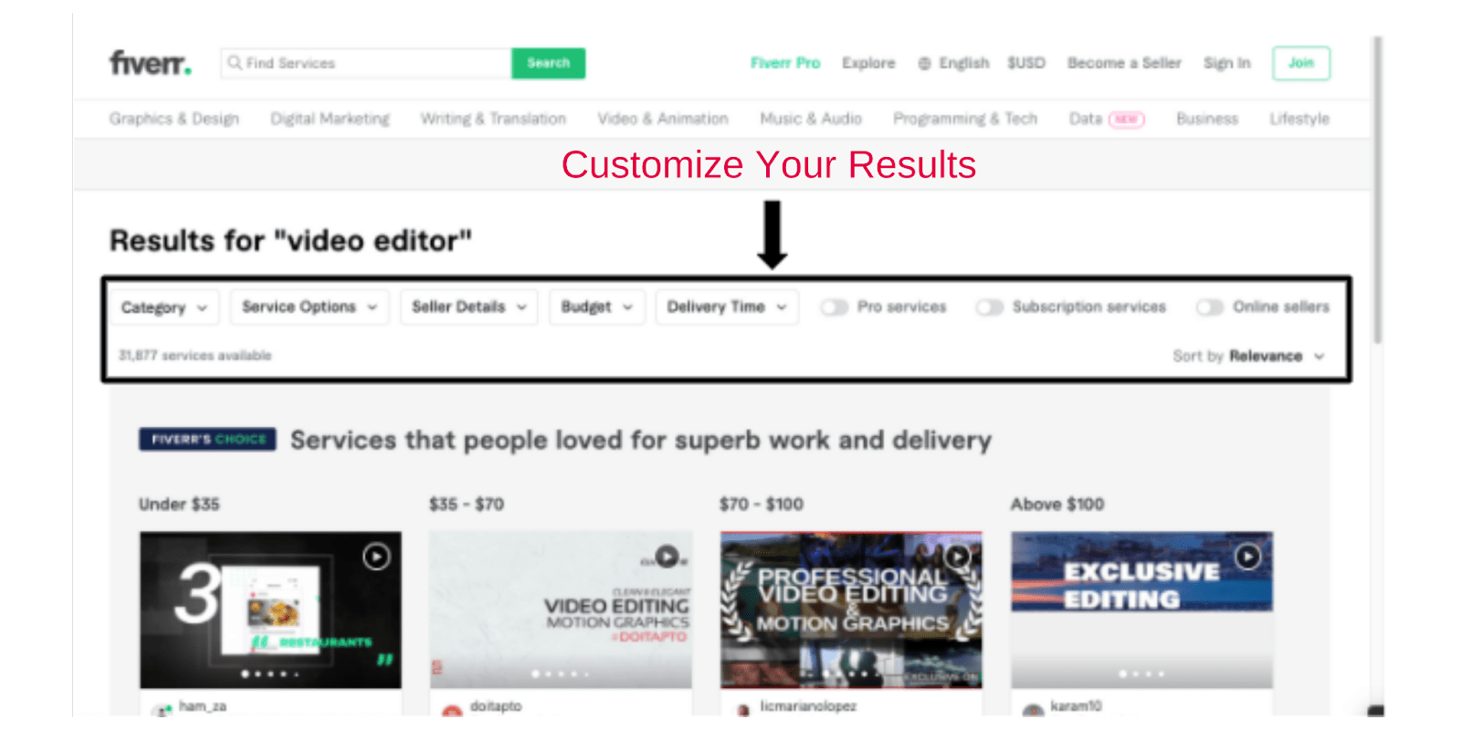 Fobest-results-customize-your-search