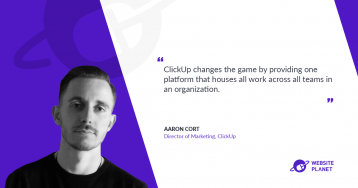 One platform that houses all work with ClickUp