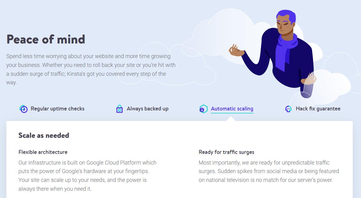 Kinsta - fully managed hosting