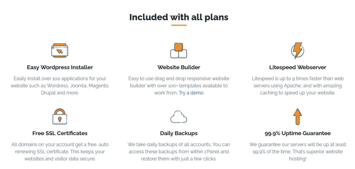 Relentless Hosting - shared hosting features