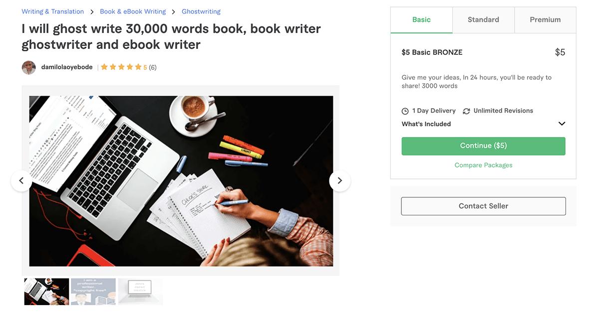 freelance book & e-book writer on Fiverr – Damilolaoyebode