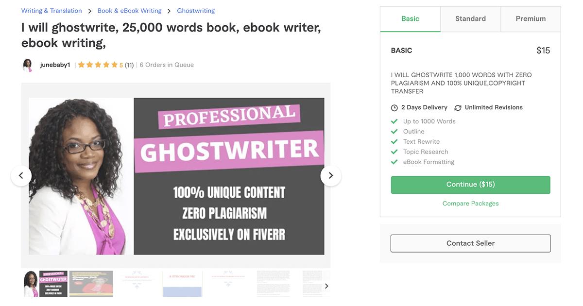 freelance book & e-book writer on Fiverr – Junebaby1