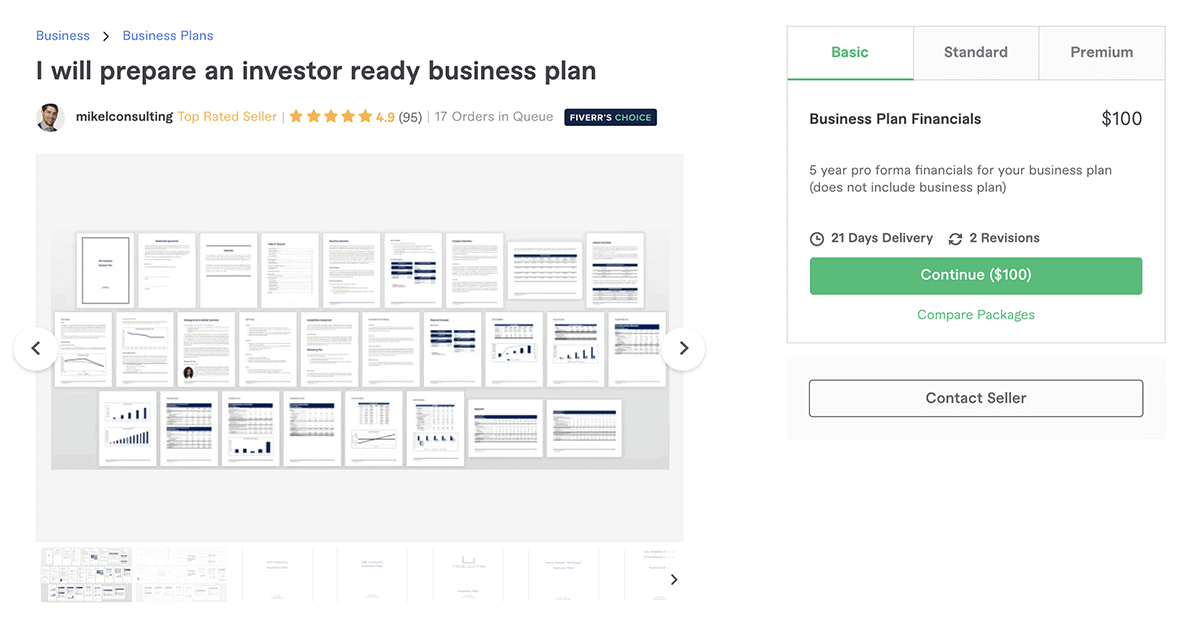 business plan writer on Fiverr – Mikelconsulting
