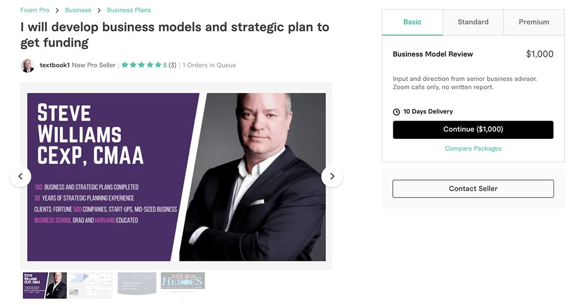 business plan writer on Fiverr – Textbook1