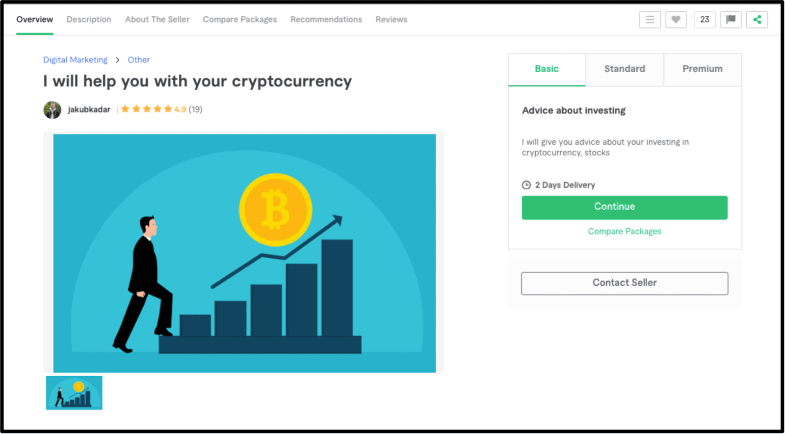 Freelance Bitcoin expert Jakubadar profile on Fiverr