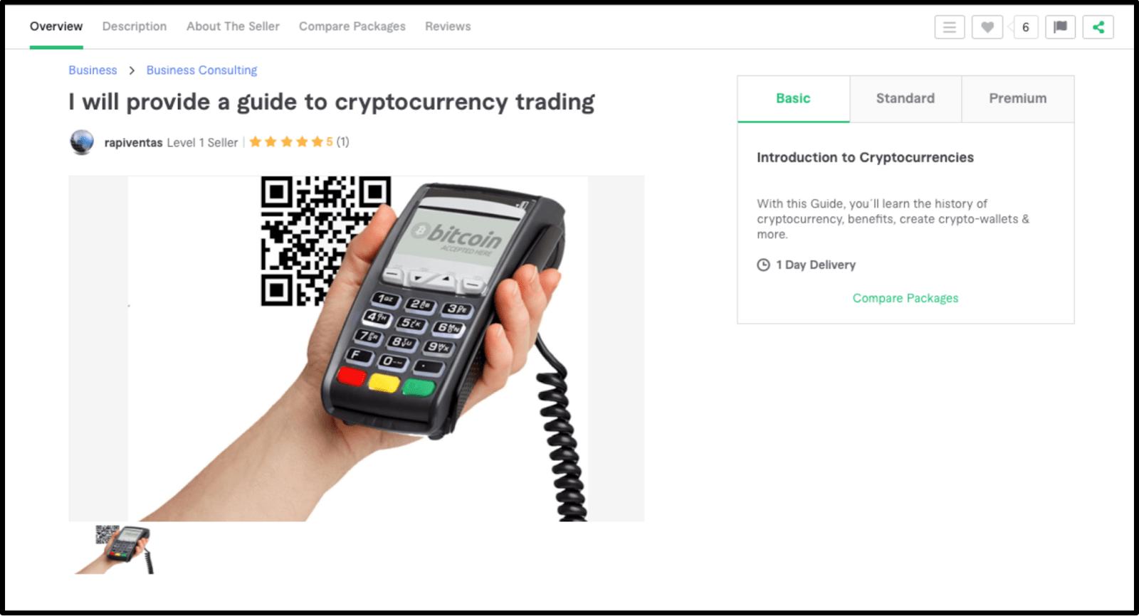 Freelance Bitcoin expert Rapiventas profile on Fiverr