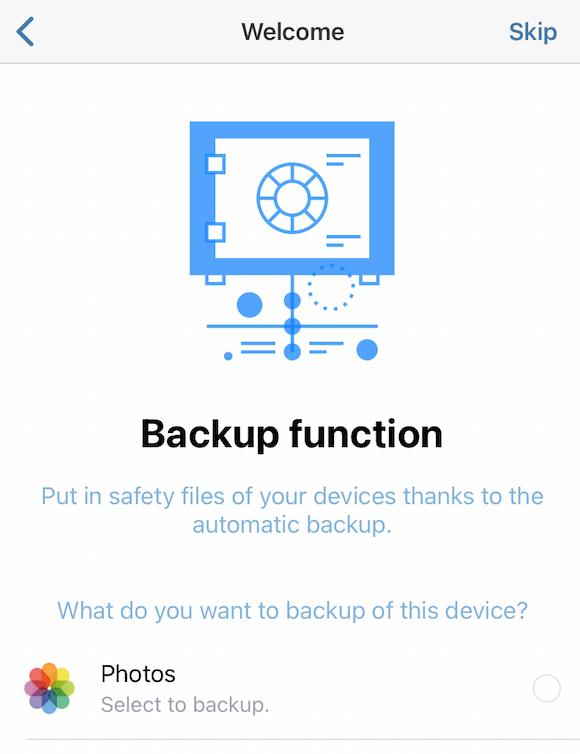 Memopal Mobile App Backup Function