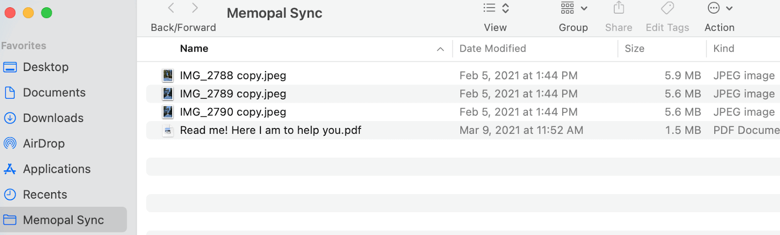 Memopal Sync Folder On A Mac