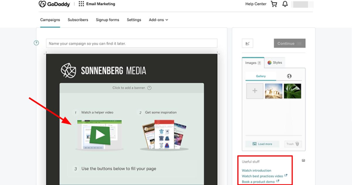 GoDaddy Email Marketing tutorials