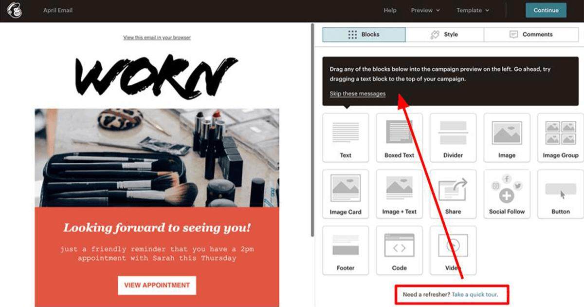 Mailchimp tutorials