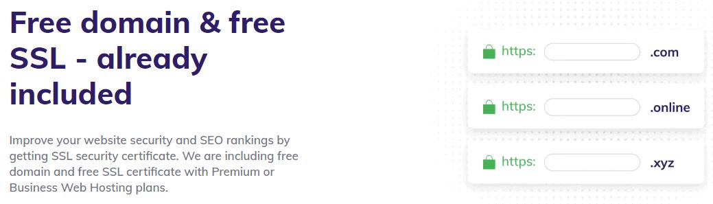 Description of Hostinger's premium shared hosting plan features