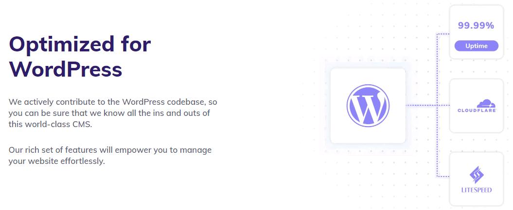 Description of Hostinger's WordPress optimization