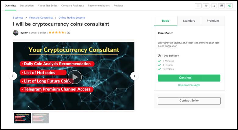 Bitcoin Expert Ayan744 Fiverr profile