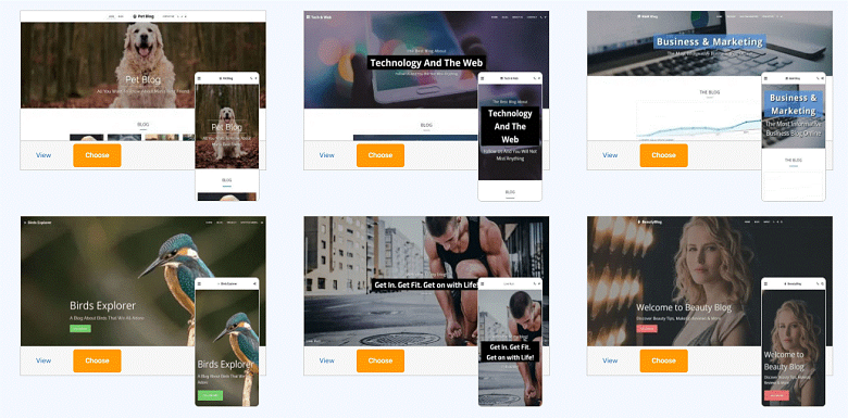 Site123 blog templates