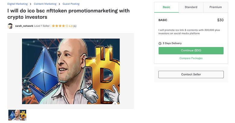 Telegram promotion service on Fiverr - Sarah_Network