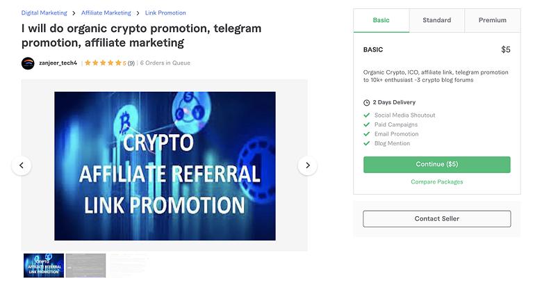 Telegram promotion service on Fiverr - Zanjeer_Tech4