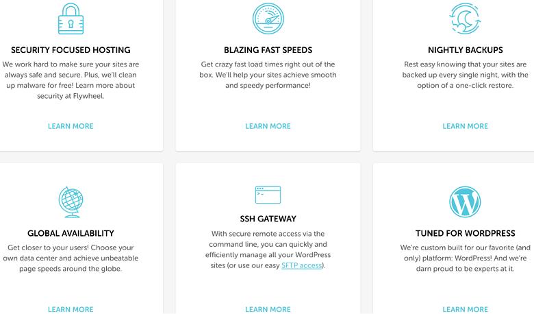various-features-of-flywheel's-wordpress-hosting-platform