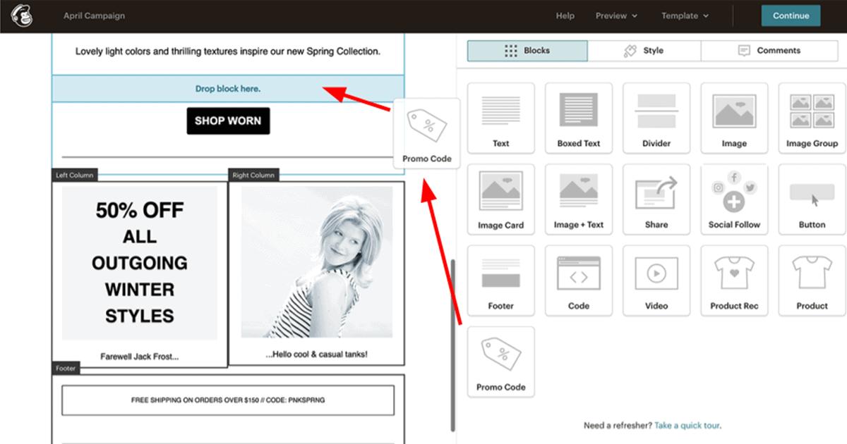Mailchimp Drag-And-Drop Editor