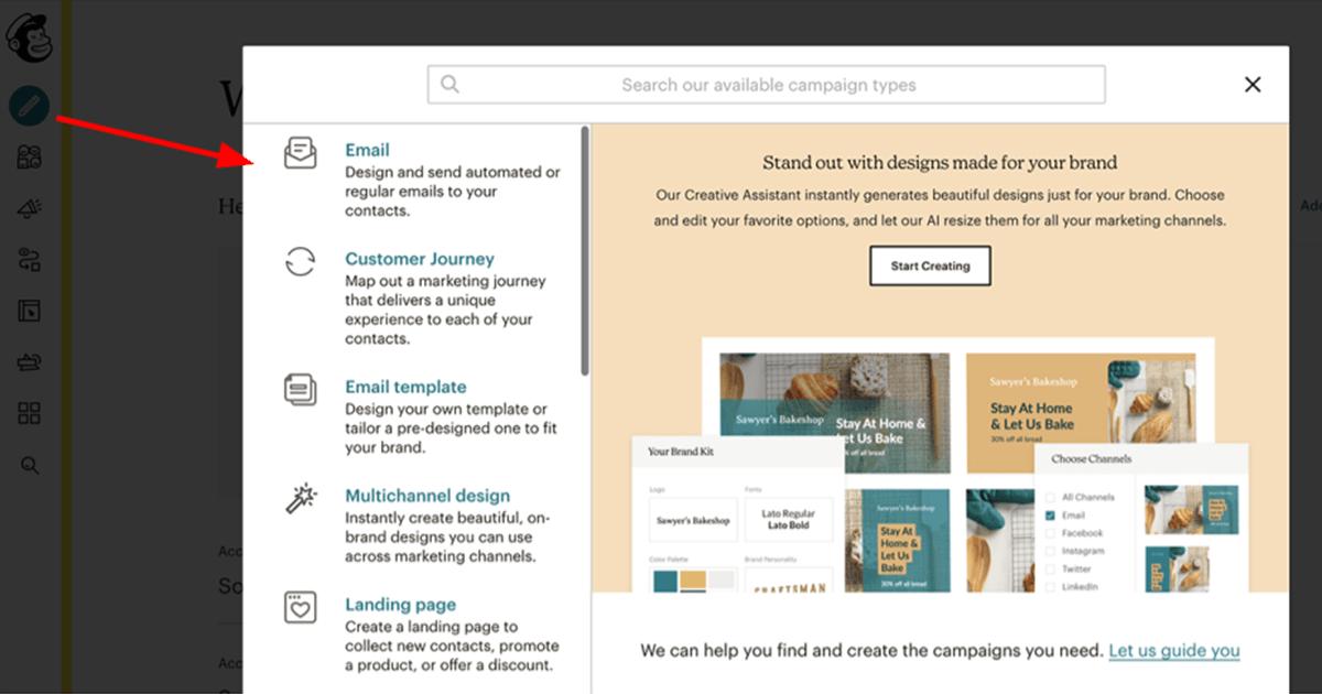 Mailchimp Campaign Interface