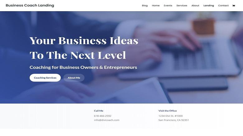 divi-business-coach-landing-page