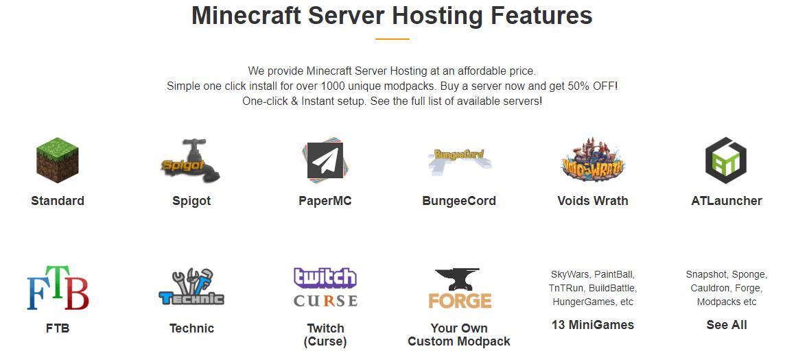 ScalaCube Minecraft Hosting Mod Pack List