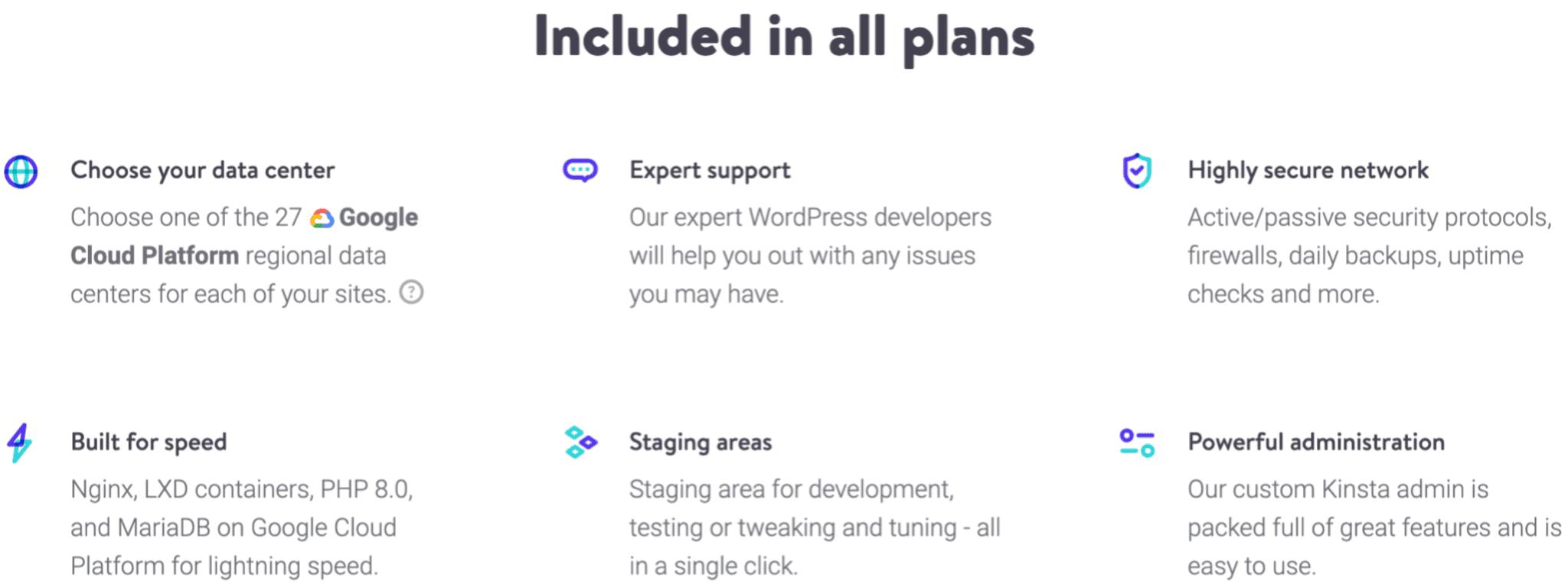 kinst-wordpress-hosting-features