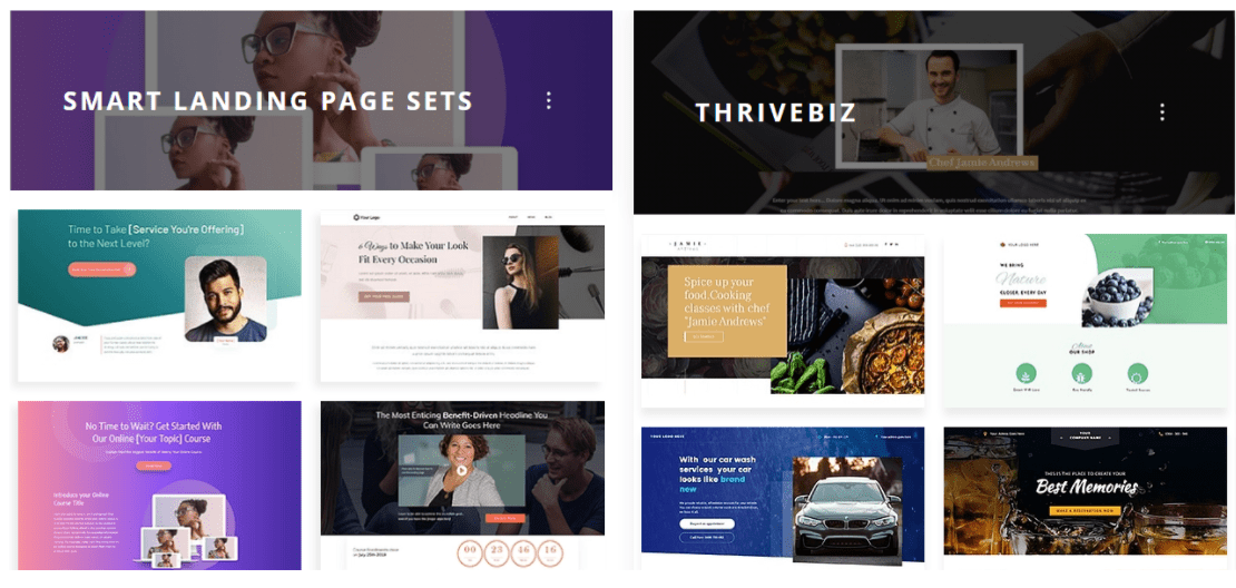 Thrive Template Gallery