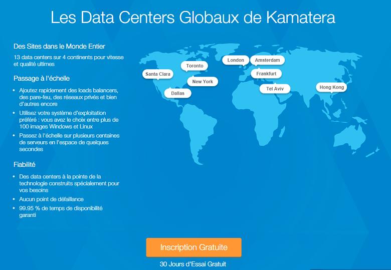 Map of Kamatera's data centers