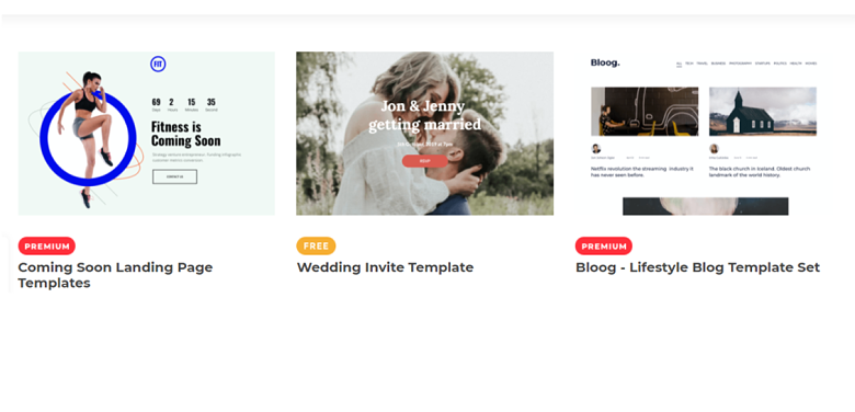 Visual Composer Template Gallery