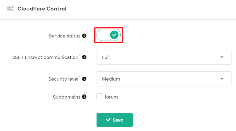 Hostinge CloudFlare CDN Control