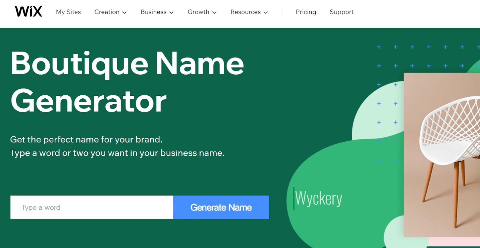 Wix boutique name generator