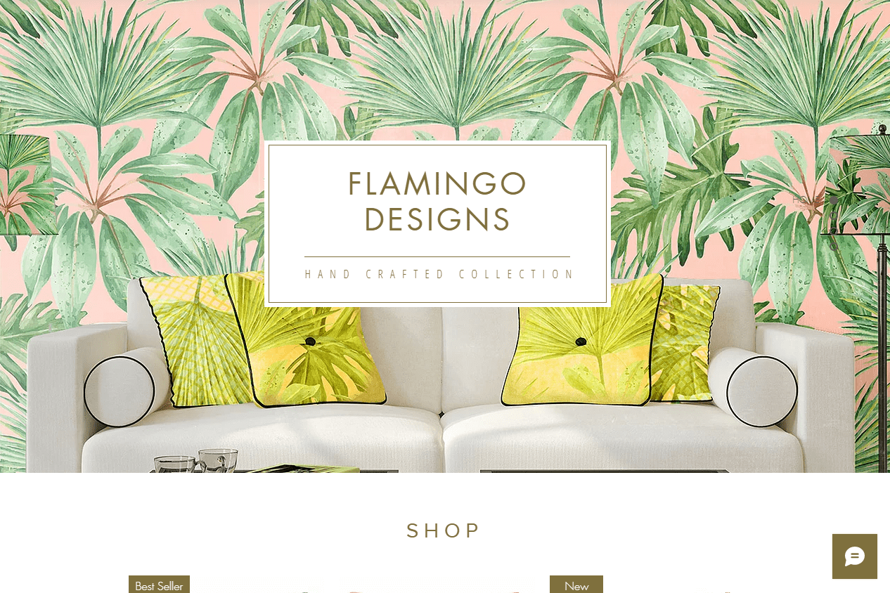 Wix home goods store template