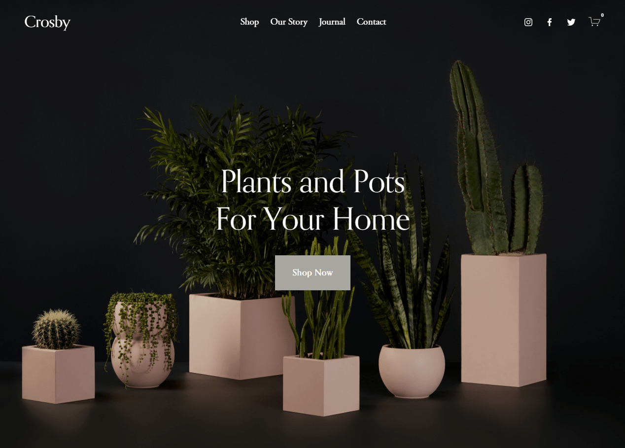 Squarespace crosby template