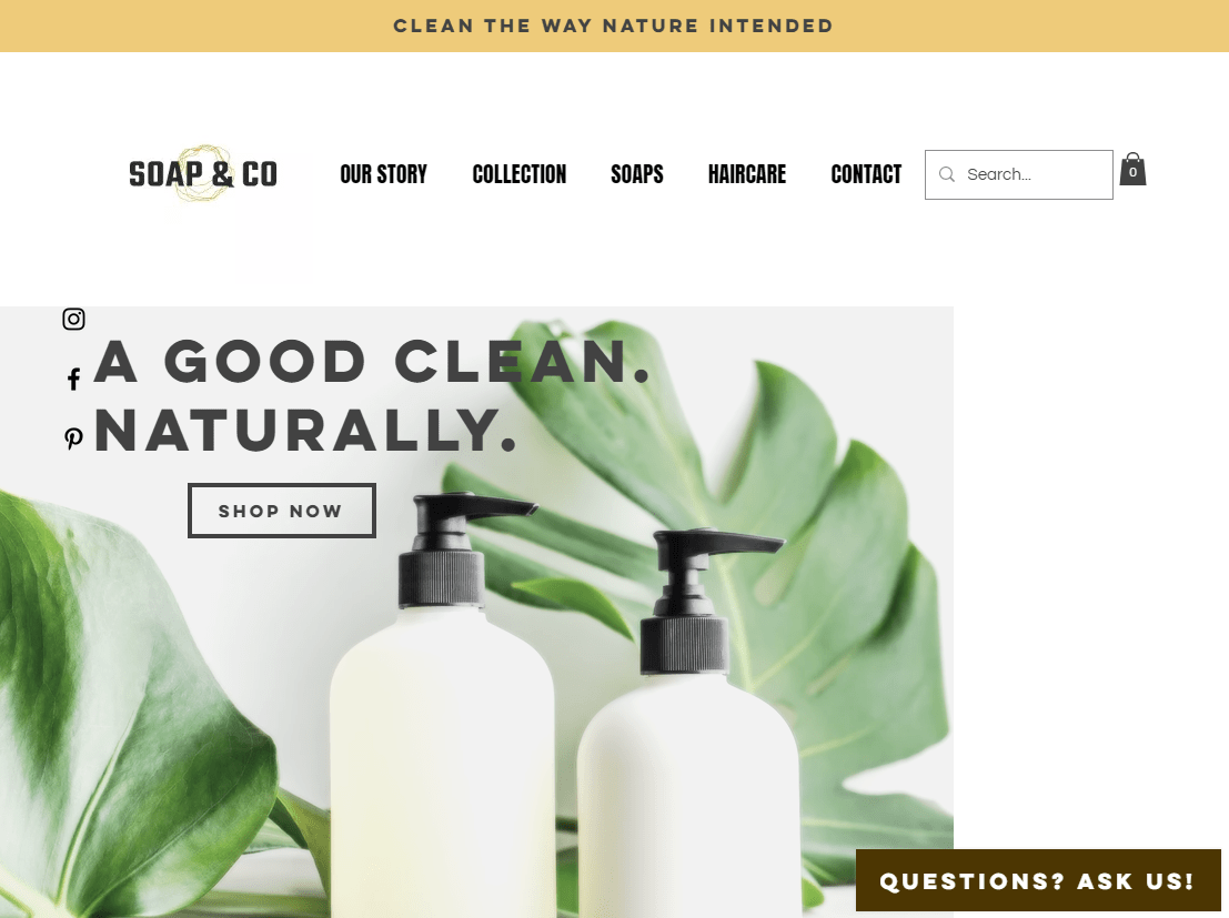 Soap and co homepage