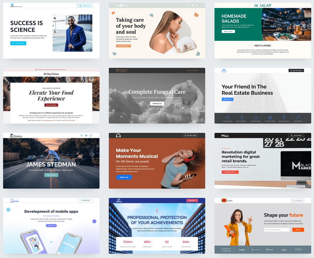 the Network Solutions template library