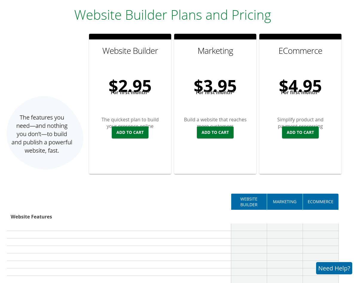 Network Solutions plans and pricing