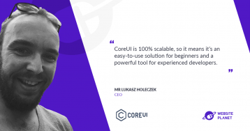 Save time on development with CoreUI