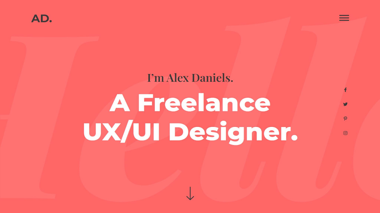 Elementor UX/ui-designer-portfolio-website-kit