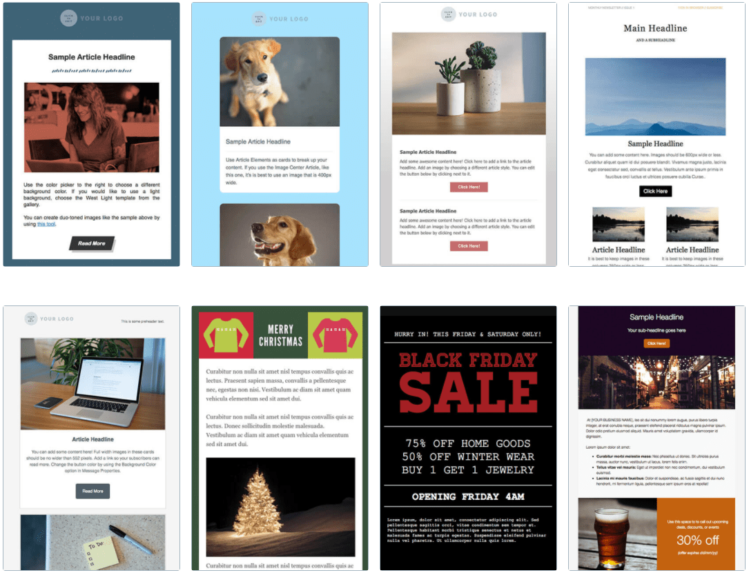 AWeber's email templates