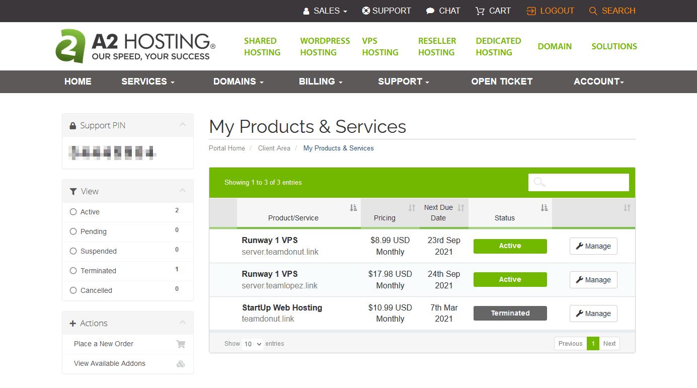 the-a2-hosting-dashboard