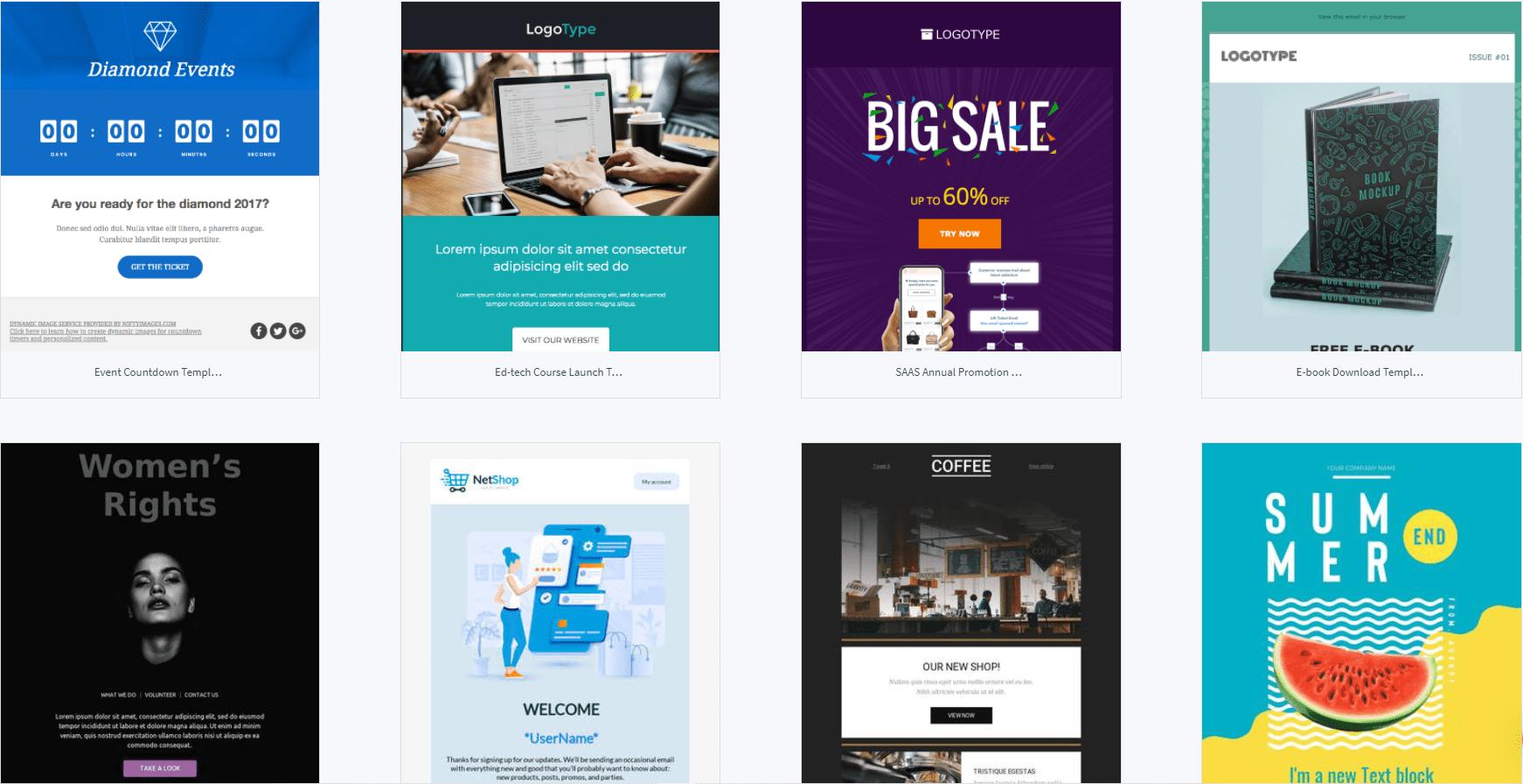 SendX templates